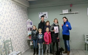Geslaagde Kleuterklas cursist met gezin Waalwijk jan '16